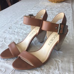 Sole Society leather sandals.